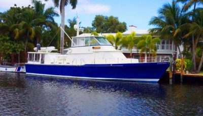 70′ Custom Lee Wilbur Motor Yacht designed by Ray Hunt 3D Model