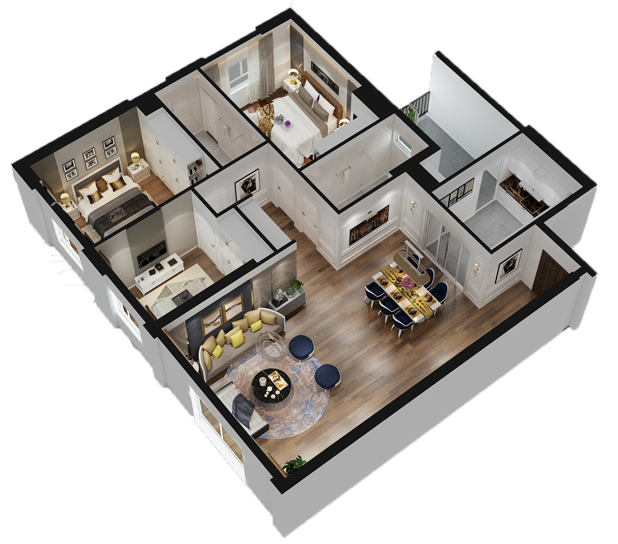 Accutour professional 3d rendering services in south for Floorplans 3d