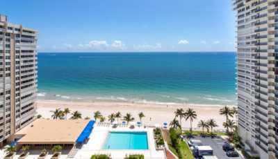 Spectacular views east and west from high floor 3 bedroom condo on the beach!
